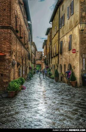 After a tuscany rain storm