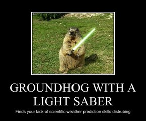 GROUNDHOG WITH A LIGHT SABER