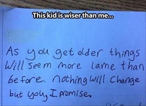 Ridiculous Wisdom From a Grade Schooler