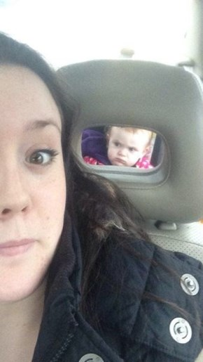 Disapproving Baby Does Not Approve of Your Selfie