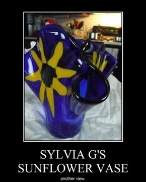 SYLVIA G'S SUNFLOWER VASE
