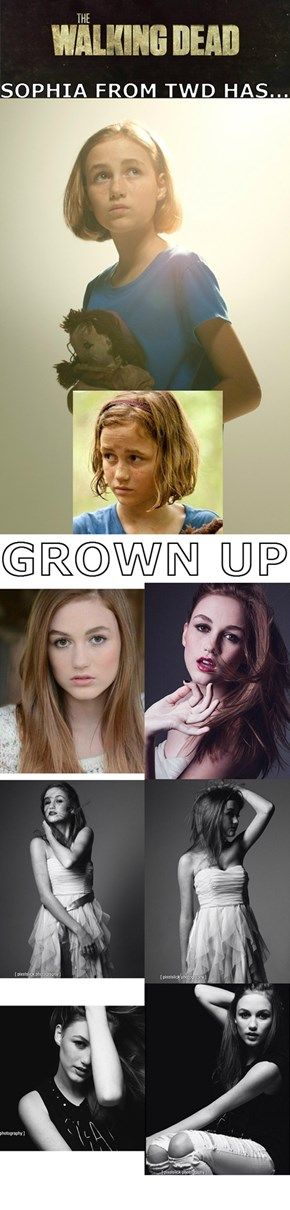 Sophia (Madison Lintz) is growing into a beautiful young woman