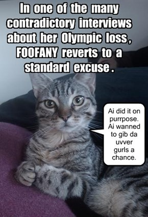 FOOFANY reverts to a standard excuse--KKPS Olympic disaster