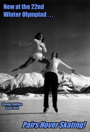 "Our first couple will skate to that 60s classic, ""Up, Up & Away"""
