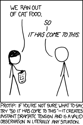 XKCD: So it has come to this