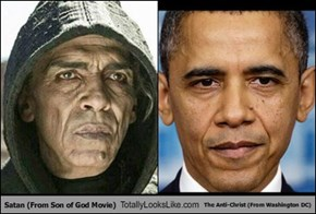 Satan (From Son of God Movie) Totally Looks Like The Anti-Christ (From Washington DC)