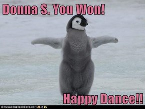 Donna S. You Won!  Happy Dance!!