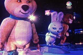 The Olympics Are Over, so Let's Have One Last Look at Those Creepy Russian Mascots