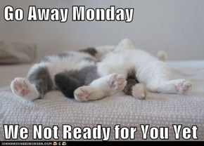 Go Away Monday  We Not Ready for You Yet