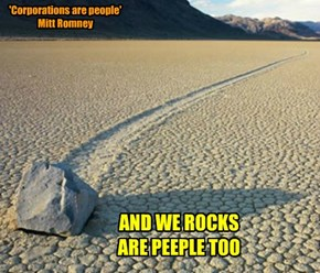 Rocks are peeple...