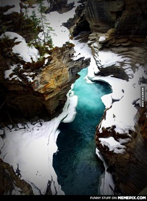 athabasca Falls In Alberta ,Canada