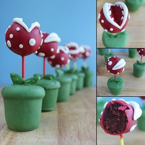 The Pipe's On the Other When You Eat These Piranha Plant Cake Pops