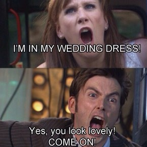 It's Bad Luck To See The Doctor On Your Wedding Day