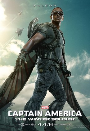 Falcon Character Poster For Captain America: The Winter Soldier