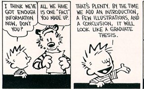 How to Write a Proper Paper According to Calvin