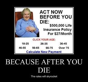 BECAUSE AFTER YOU DIE