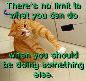 There's no limit to what you can do  when you should be doing something else.