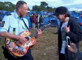 A Danish Cop Gets Down at a Local Music Festival