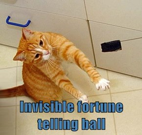 Invisible fortune telling ball