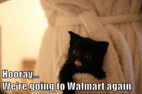 Hooray...                                            We're going to Walmart again