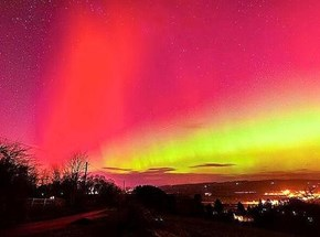 Aurora Borealis at Corbridge, Northumberland UK...gorgeous