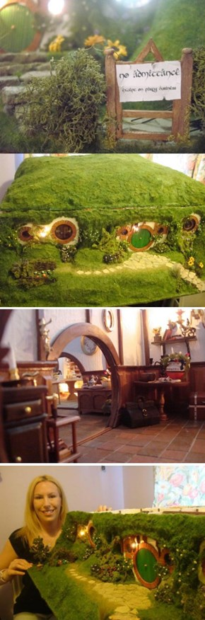 Hobbit Hole Dollhouse is Too Small For Bagginses