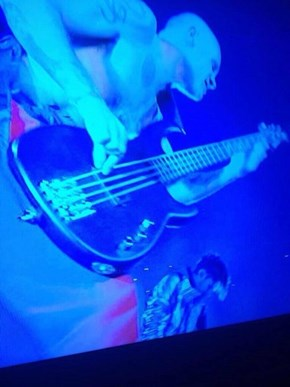 Flea Forgot to Plug Something in During Last Night's Halftime Show
