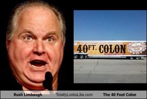 Rush Limbaugh Totally Looks Like The 40 Foot Colon