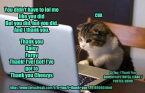 A message from CUA who is doin' fine!