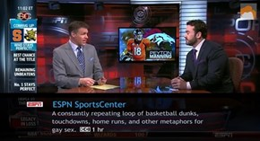 SportsCenter in a Nutsack... Err... Nutshell...
