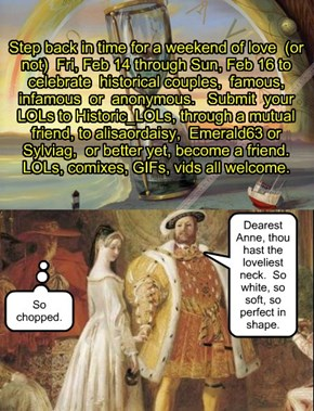 "Historic_LOLs presents ""Couples and Cupid"" for Valentine's Day 2014"