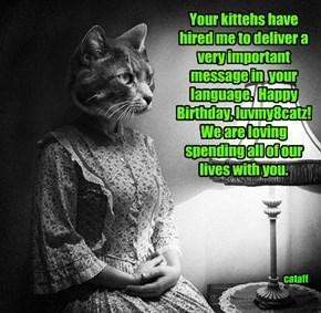 Happy Birthday to a true friend to catz!