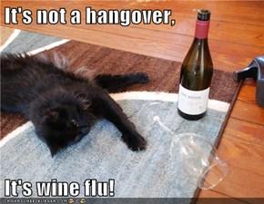 It's not a hangover,  It's wine flu!