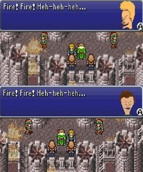 Beavis and Butthead in Final Fantasy VI