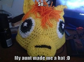 So...  My aunt made me a hat :D