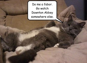 Do me a fabor. Go watch  Downton Abbey somewhere else.