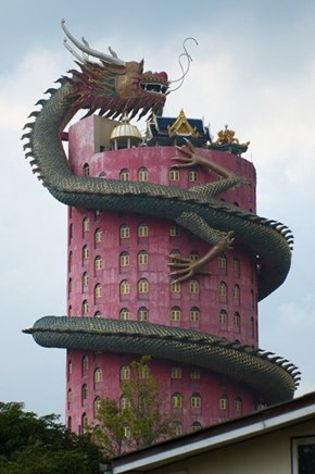 Wat Samphran Temple, Which We Can Only Pray Has a Built-in Slide