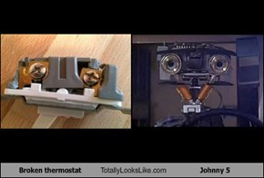 Broken thermostat Totally Looks Like Johnny 5