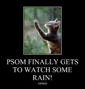 PSOM FINALLY GETS TO WATCH SOME RAIN!