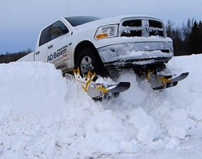Add Some Skis and There's No Winter Storm too Great for Your Truck
