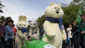 A Closer Look at Sochi's Terrifying Bear Mascot