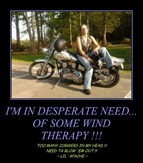 I'M IN DESPERATE NEED... OF SOME WIND THERAPY !!!