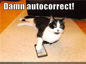 Damn autocorrect!