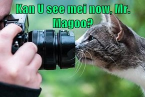 Kan U see mei now, Mr. Magoo?