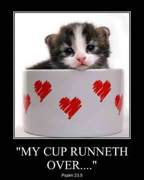 """MY CUP RUNNETH OVER...."""