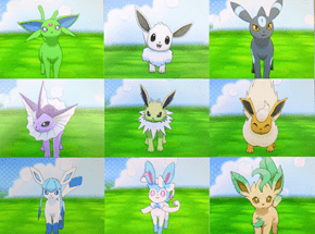 All the Shiny Eeveelutions!