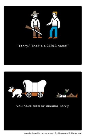 On The Oregon Trail, Dissing Can Be Dangerous