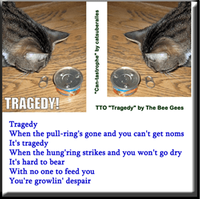 """Can-tastrophe"" (TTO ""Tragedy"" by The Bee Gees)"