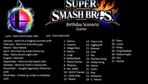 Super Smash Bros Birthday Scenario Game
