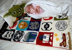 The Force Is Strong In This Hand Stitched Baby Blanket